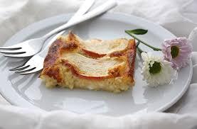 quarkkuchen ohne boden mit apfel