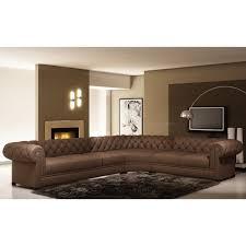 canapé sofa italien canapé d angle en cuir italien 7 8 places belisi achat vente