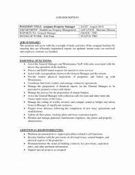 Property Manager Resume Objective Lovable Examples At Healtcare Department
