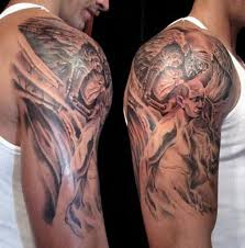 Angels And Demons Half Sleeve Tattoo Fresh On Custom Designs