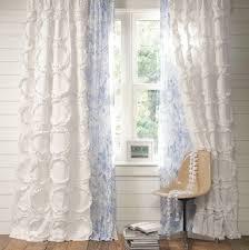 Pink Ruffle Blackout Curtains by White Ruffle Curtain Drape Panel Shab Petticoat Ruffles Chic