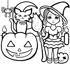 Coloring Page Halloween For Preschool Pages Preschoolers Within To Print
