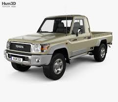 100 Toyota Pickup Truck Models Land Cruiser Single Cab VXR 2007 3D Model