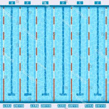 Olympic Swimming Pool Deep Bath Lanes Top View Flat Pictogram With Clean Transparent Blue Water Vector Y