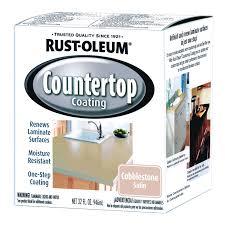 Rust Oleum Decorative Concrete Coating Applicator by Rust Oleum 1 Quart Cobblestone Satin Countertop Coating 263206