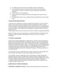 Health Insurance Termination Letter employment termination letter