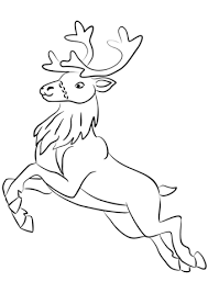 Click To See Printable Version Of Santa Clauss Reindeer Coloring Page