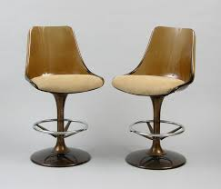 Two Lucite Barstools By Chromcraft , 09.22.07, Sold: $126.5 Mid Century Modern Chromcraft Tulip Swivel Barstool Chairs Armchairs Sofas Galerie Zeitloos Fiberglass Lounge Chair By Milo Baughman For Thayer Coggin Star Trek Model Chairs 1960s Set Of 4 Four Chromecraft Ding Sculpta Midcentury Qasynccom Six Alex 181 Chromcraft Lounge Pair Mass Custom With Casters And Tube Steel Armchairs In Lavender