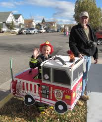 Cutest Homemade Firetruck Halloween Costume