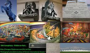 Denver International Airport Murals New World Order by Abo The Denver International Airport Nwo Illuminati Conspiracy