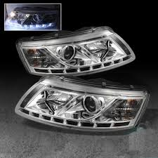 audi a6 2005 2008 clear projector headlights with led daytime