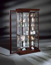 manifestation eight shelf 2 way sliding door curio cabinet in