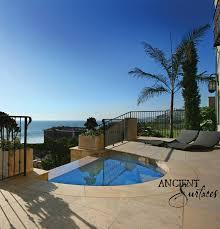 Millennium Limestone Flooring Wide Planks Installed In The Livingroom Of A Mediterranean Style Coastal Beach Villa