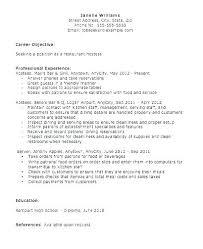 Sample Resume For Hostess Air