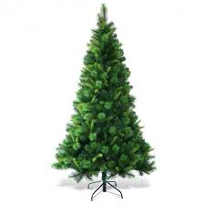 7 Ft Pre Lit PVC Artificial Christmas Tree With Multicolor Lights