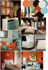 Brown And Aqua Living Room Pictures by Burnt Orange And Teal Living Room Kitchen Silver Home Decor Burnt