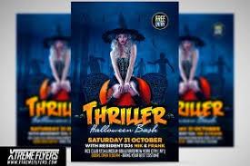 Free Halloween Flyer Templates by Halloween Party Flyer Template Flyer Templates Creative Market