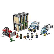 100 Lego Police Truck LEGO City Bulldozer Break In Helicopter Kids Building Kit
