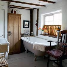 Bathroom Inspiring Country Designs Home Interior With Bathtub And Towel Cupboard Chair