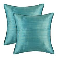 Pier One Blue Throw Pillows by Amazon Com Pack Of 2 Calitime Silky Throw Pillow Covers Cases