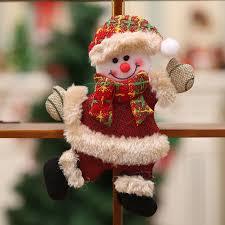 Navidad 2018 Christmas Pendant Santa Claus Snowman Tree