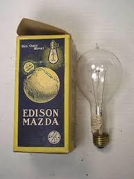 antique tipped edison mazda original box stickers working 100 watt