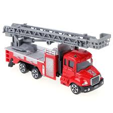 Mini Fire Truck Toy Alloy Engineering Car Educational Children Kid ...