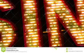 casino neon sign with light bulbs stock footage