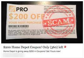 SURVEY SCAM $200 Home Depot Coupon Giveaway