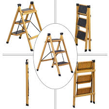 ZfgG Step Stool Solid Wood Fold Stair Chair Household Ladder ...