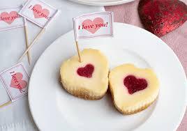 mini cheesecakes mit frucht herz