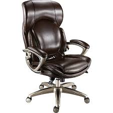 staples air high back bonded leather manager s chair chocolate
