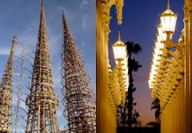 L A Icons Urban Light and Watts Towers