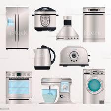kücheelektrogeräteiconset stock vektor und mehr bilder ausrüstung und geräte