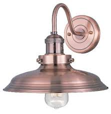 copper wall mount light for above the sink furniture lighting
