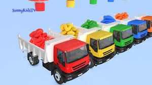 Learn Colors Trucks Cartoon For Children Video For Kids |