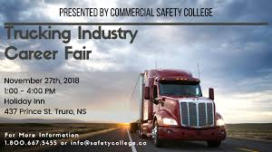 100 Trucking Industry Career Fair Fall 2018 Banner Commercial Safety