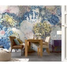 Wall Mural Decals Flowers by Shop Provincial Wallcoverings 8 941 Frisky Flowers Mural At Lowe U0027s