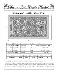 Decorative Air Return Grille by Decorative Grille Vent Cover Or Return Register Made Of