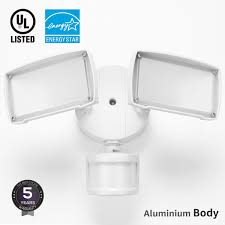2 motion activated led outdoor security light dusk to