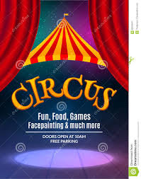 Circus Show Poster Template With Sign And Light Frame Festive Invitation Vector Carnival Illustration