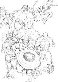 Marvel Super Hero Coloring Pages Superhero Free Printable Book Squad
