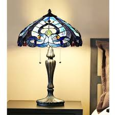 Tiffany Style Glass Torchiere Floor Lamp by Blue Stained Glass Tiffany Style Victorian 2 Light Table Lamp