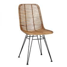 chaise pied metal chaise studio en rotin et pieds métal pied metal colonel et rotin