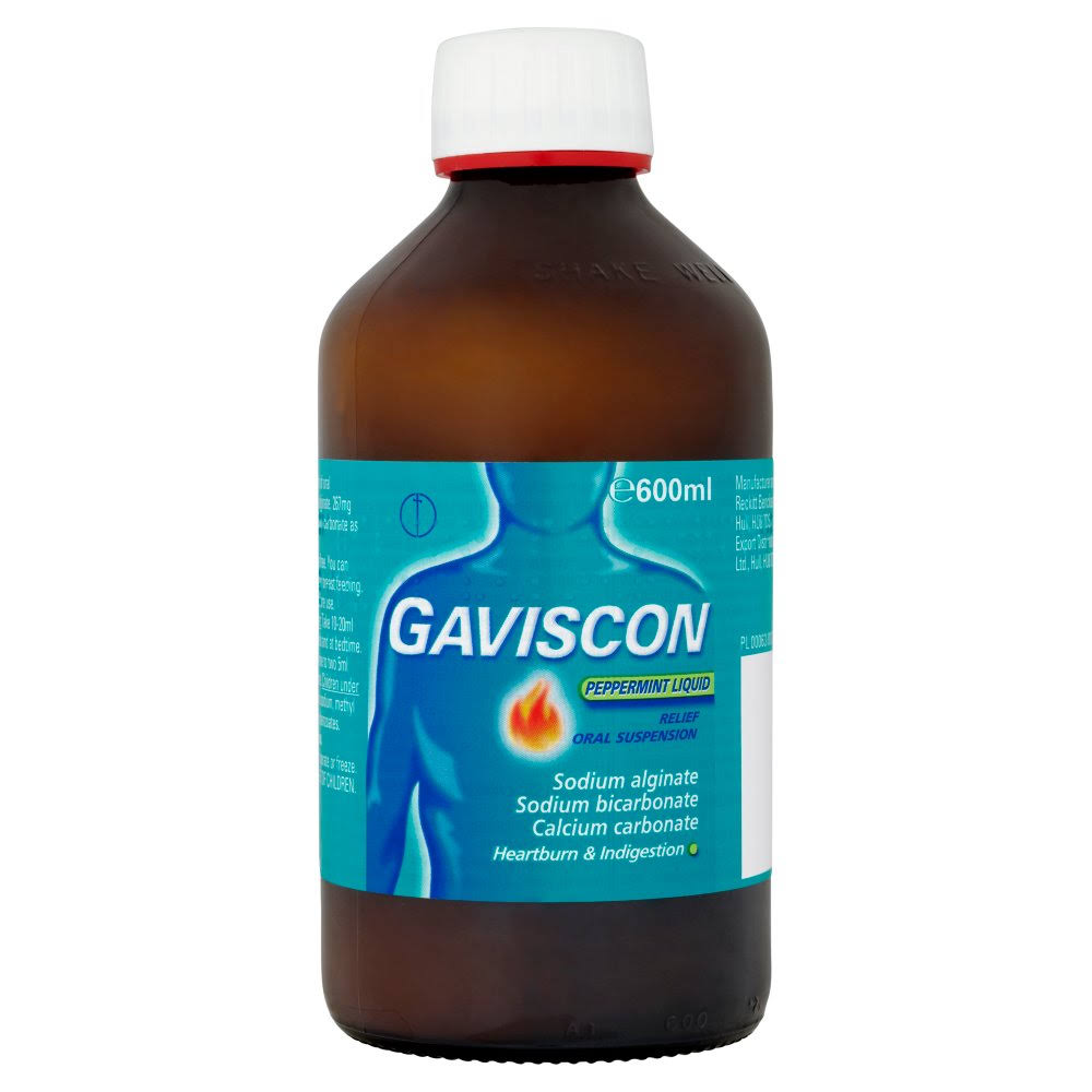 Gaviscon Heartburn & Indigestion Relief Oral Suspension - Peppermint, 600ml