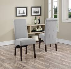 Wayfair Upholstered Dining Room Chairs by Amazon Com Simpli Home Avalon Linen Deluxe Parson Chair Dove