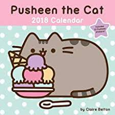 Pusheen The Cat 2018 Wall Calendar
