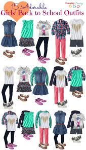 School Clothes For Girls 15 Mix And Match Back To Outfits At