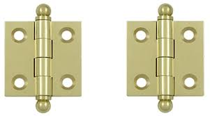 1 1 2 inch x 1 1 2 inch solid brass cabinet hinges unlacquered