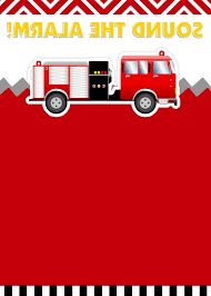 Fire Engine Birthday Invitations Free Printable Truck Envelopes ...